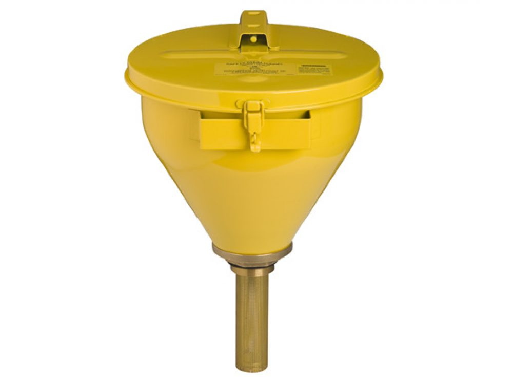 Large Steel Drum Funnel - yellow